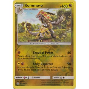 163//236 Reverse Holo Foil Pokemon COSMIC ECLIPSE Kommo-o