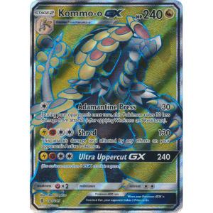 Pokemon Card Kommo-O GX 141//145 Holo Foil Ultra Rare Full Art NM//EX