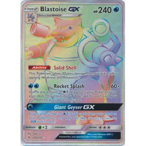 Blastoise-GX (Hyper Rare) - 218/214