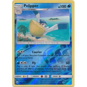 PELIPPER REVERSE HOLO POKEMON SUN /& MOON CARD 38//149