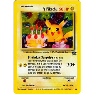 _____'s Pikachu - 24 (Birthday Pikachu)