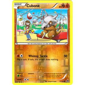 Cubone - 77/162 (Reverse Foil)