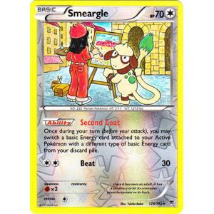 Smeargle - 123/162 (Reverse Foil)