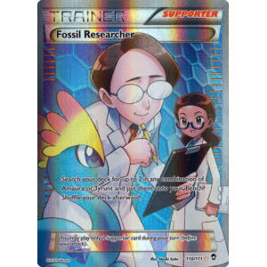 Fossil Researcher Full Art Ultra Rare PL Pokemon XY Furious 110//111
