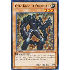 Super Rare 1st Edition NM YuGiOh HA06-EN031 Gem-Knight Obsidian 1x Hid