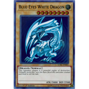 Blue-Eyes White Dragon (Blue Ripple Background)