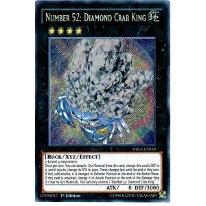 Number 52 Diamond Crab King WIRA-EN050 Secret Rare Near Mint