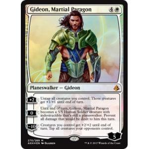 Excellent+ Magic MTG Martial Paragon ~ Amonkhet FOIL Gideon