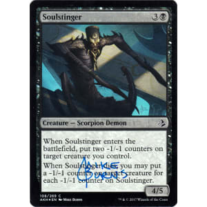Soulstinger FOIL Signed by Mike Burns