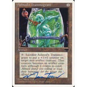 Ashnod's Transmogrant Signed by Mark Tedin (Chronicles)