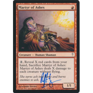 Martyr of Ashes Signed by Ralph Horsley