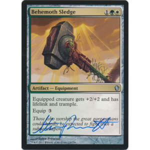 Behemoth Sledge Signed by Steve Prescott (Commander 2013)