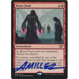 Bitter Feud Signed by Aaron Miller (Commander 2014 Edition)