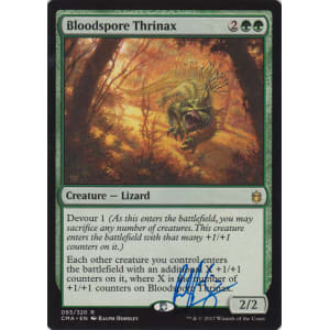 Bloodspore Thrinax Signed by Ralph Horsley