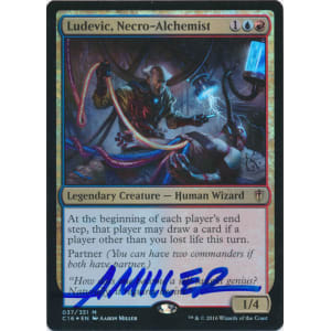 Ludevic, Necro-Alchemist FOIL Signed by Aaron Miller (Commander 2016 Edition)