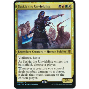 Saskia the Unyielding (Oversized Foil)