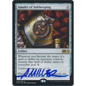 Amulet of Safekeeping Signed by Aaron Miller (Core Set 2019)