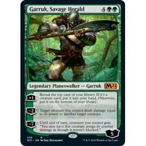 Magic MTG FOIL Garruk NearMint Savage Herald ~ Core 2021