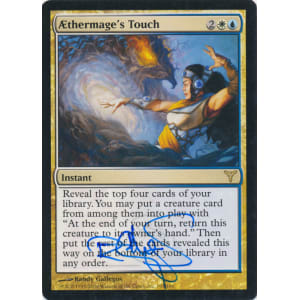Aethermage's Touch Signed by Randy Gallegos