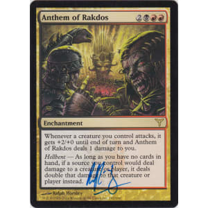 Anthem of Rakdos Signed by Ralph Horsley