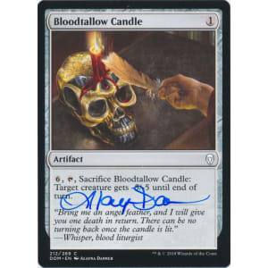 Bloodtallow Candle Signed by Alayna Danner (Dominaria)