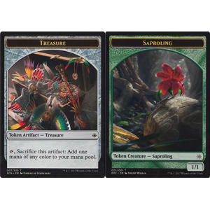 Saproling (Token) // Treasure (Token)