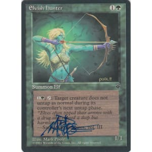 Elvish Hunter Signed by Mark Poole