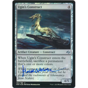 Ugin's Construct FOIL Signed by Peter Mohrbacher