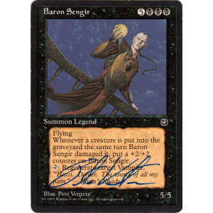 Baron Sengir Signed by Pete Venters