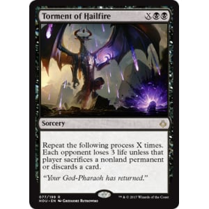 torment of hailfire magic the gathering card
