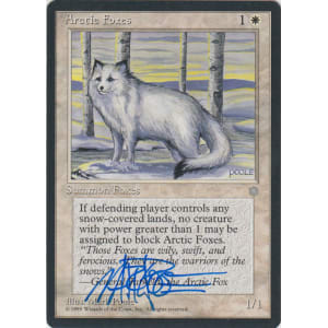 Arctic Foxes Signed by Mark Poole