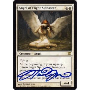 Angel of Flight Alabaster Signed by Howard Lyon