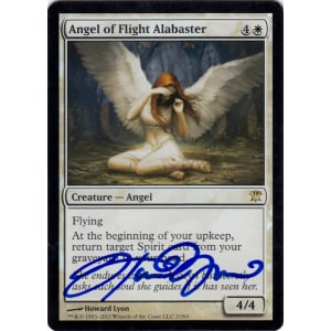 Angel of Flight Alabaster FOIL Signed by Howard Lyon