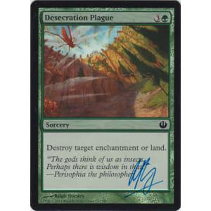 Desecration Plague FOIL Signed by Ralph Horsley