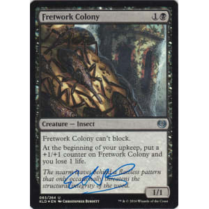 Fretwork Colony FOIL Signed by Christopher Burdett