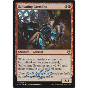 Salivating Gremlins FOIL Signed by Christopher Burdett