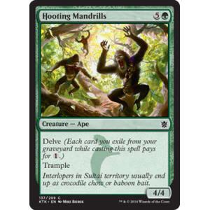 Hooting Mandrills