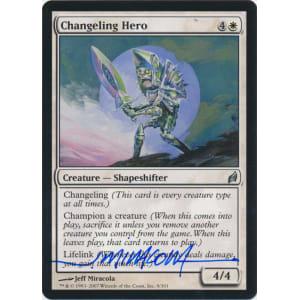 Changeling Hero Signed by Jeff Miracola (Lorwyn)