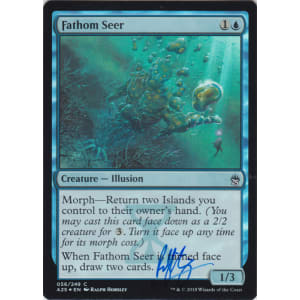 Fathom Seer FOIL Signed by Ralph Horsley