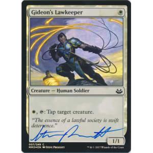 Gideon's Lawkeeper FOIL Signed by Steve Prescott
