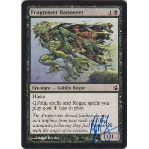 Frogtosser Banneret Signed by Ralph Horsley