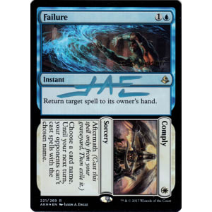 Failure // Comply FOIL Promo Signed by Jason Engle