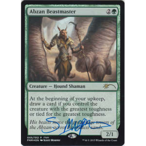 Abzan Beastmaster Promo Signed by Scott Murphy