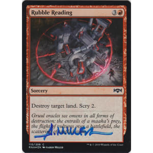 Rubble Reading FOIL Signed by Aaron Miller