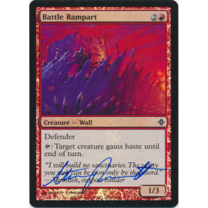 Battle Rampart FOIL Signed by Steve Prescott