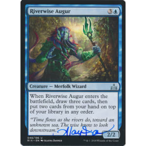 Riverwise Augur Signed by Alayna Danner (Rivals of Ixalan)