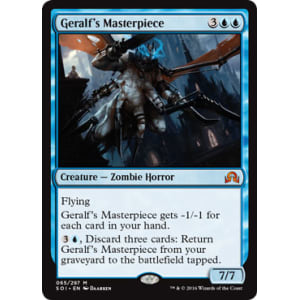 MTG Magic The Gathering Shadows Over Innistrad FOIL Geralf/'s Masterpiece `MINT!!