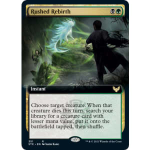 Rushed Rebirth