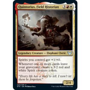 Quintorius, Field Historian