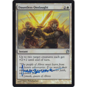 Dauntless Onslaught FOIL Signed by Peter Mohrbacher